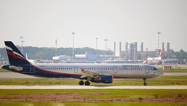 Aeroflot avião de passageiros. Imagem a cores - foto de acervo