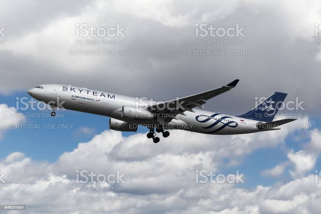 Aeroflot Russian Airlines Airbus A330 In Sky Team Livery