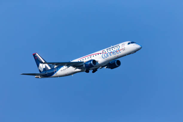 Aeromexico Airlines departs from George Bush Intercontinental Airport stock photo