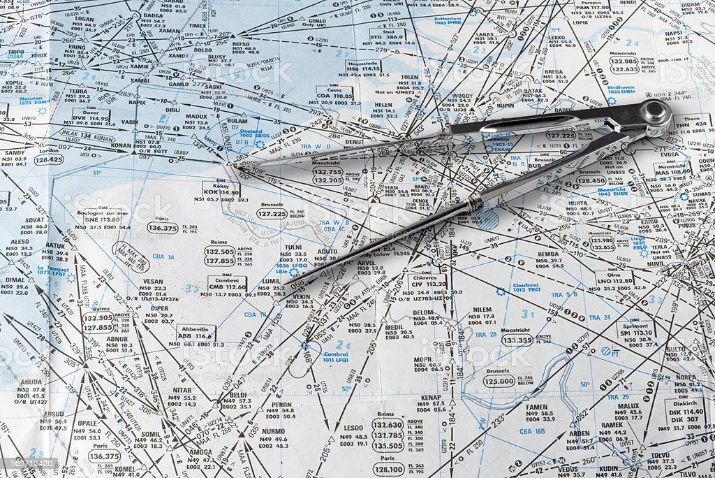 aeronautical Navigations-Tabelle - Lizenzfrei Dokument Stock-Foto