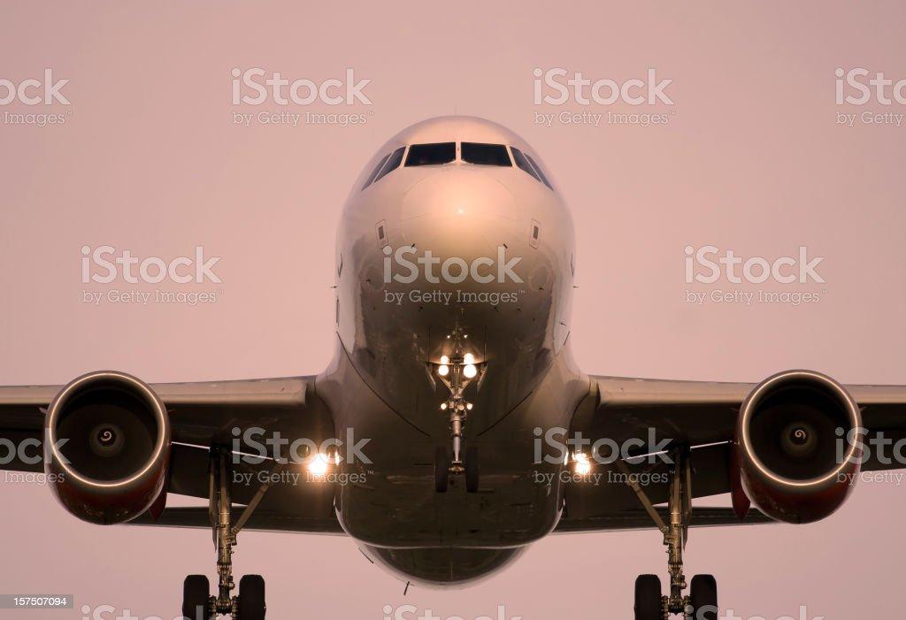 aeroplane landing royalty-free stock photo