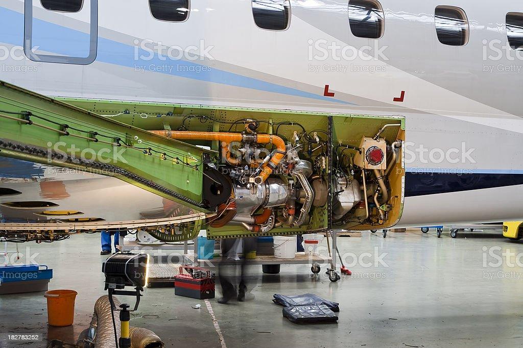 Aeroplane maintainence royalty-free stock photo