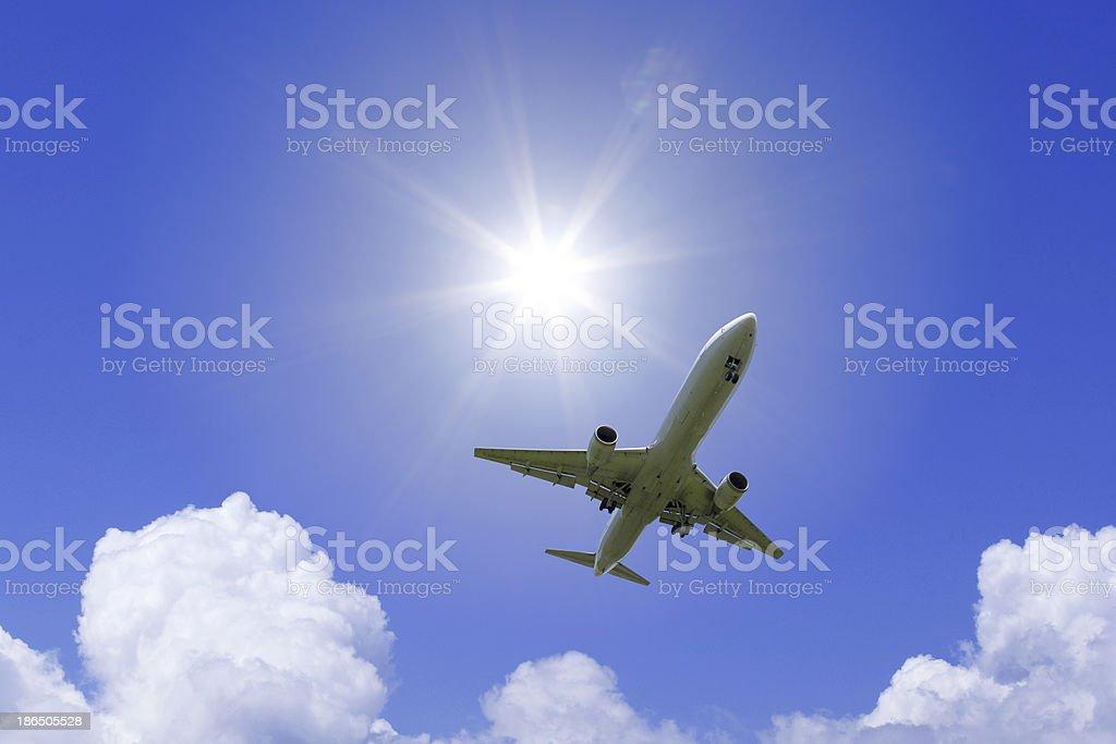 Aeroplane Airplane. Aerospace Industry Stock Photo