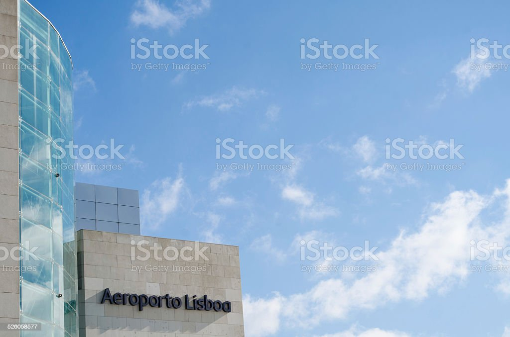 Aeroporto Lisboa stock photo