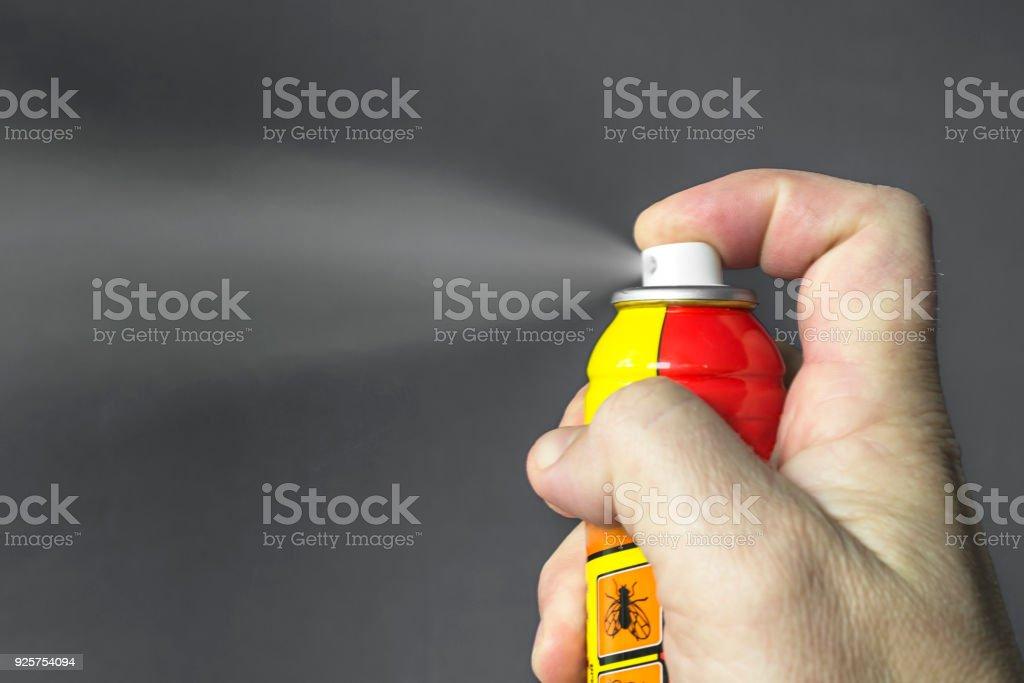 Aérosol pour lutter contre les insectes. - Photo