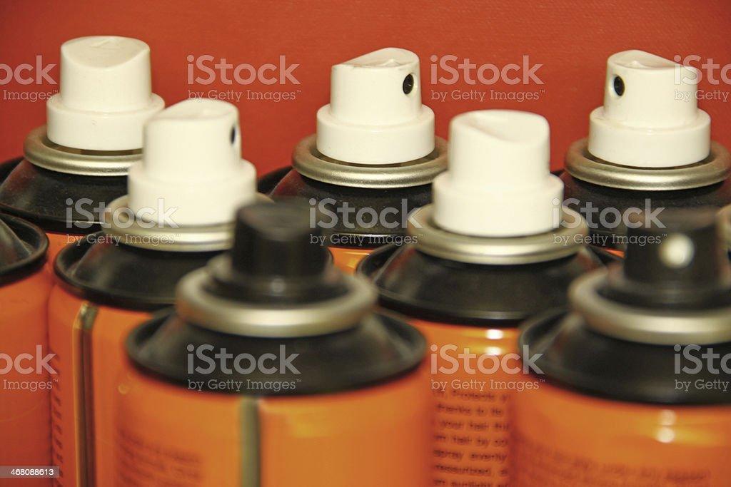 Aerosol sprays stock photo