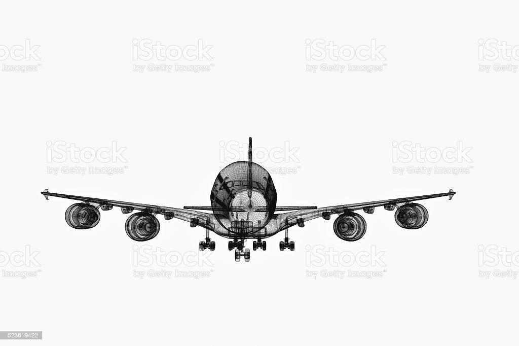 Aerospace Blueprint stock photo