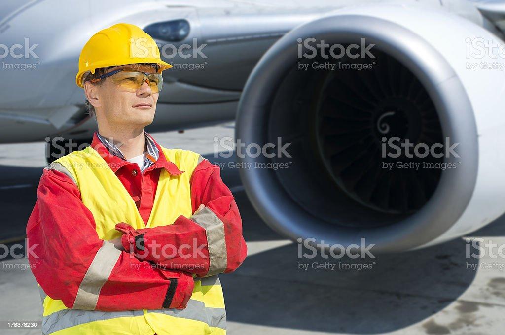 Aerospace engineer stock photo