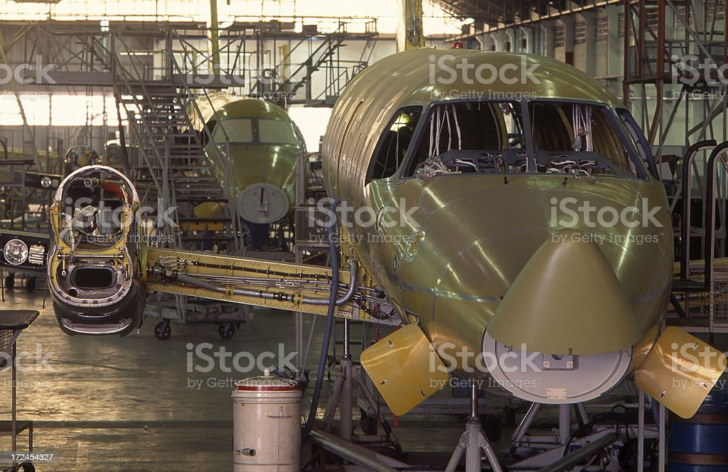 aerospace industry stock photo