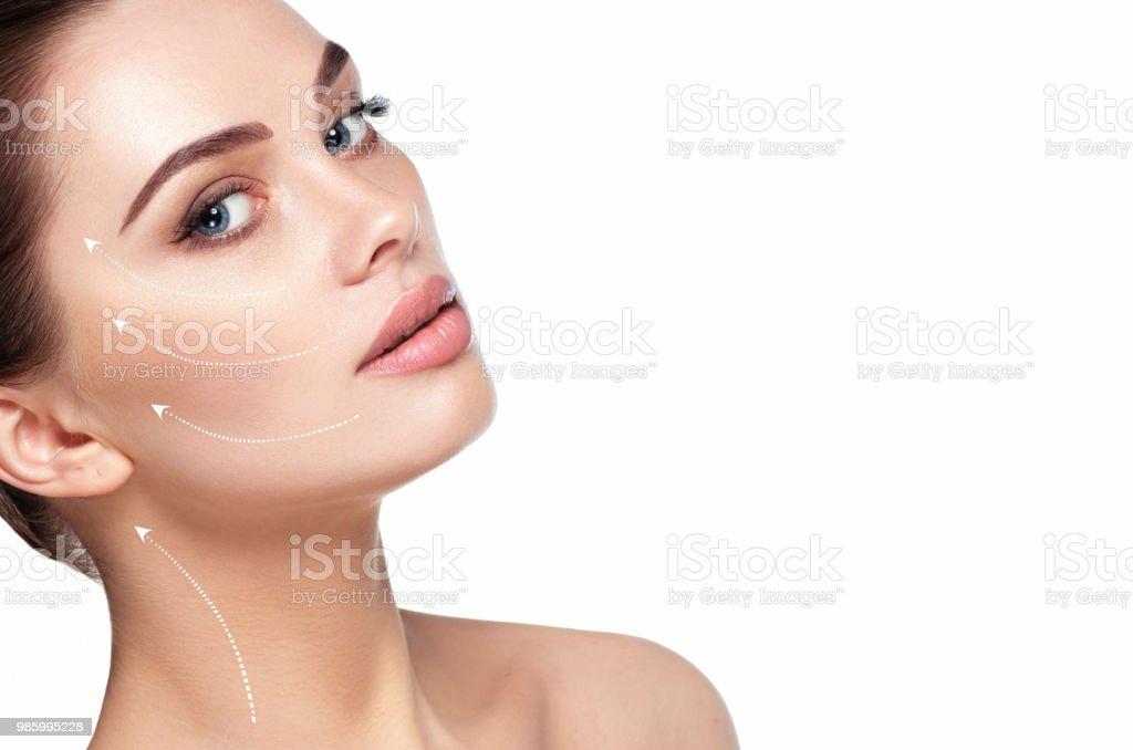 estetiska Ansiktsbehandling hudvård, kosmetika bildbanksfoto