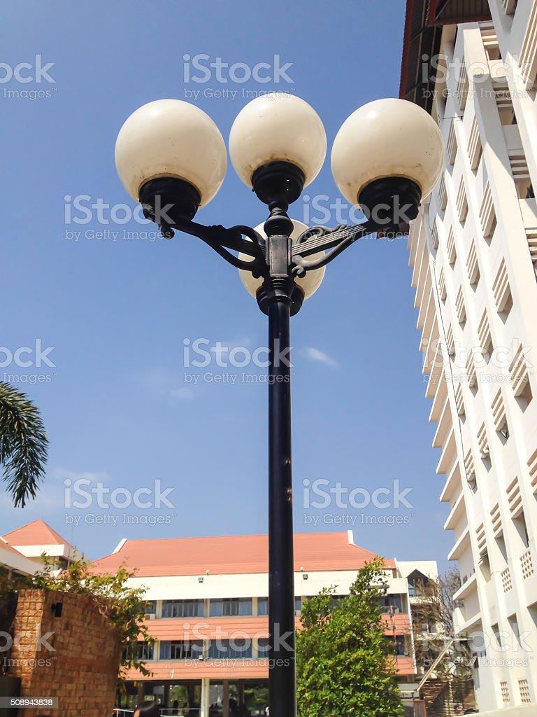Aet Of Old Vintage Street Lamp Post Lamppost Light Pole Stock Photo