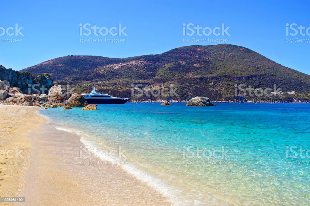 Afales Bay in Ithaca Greece stock photo