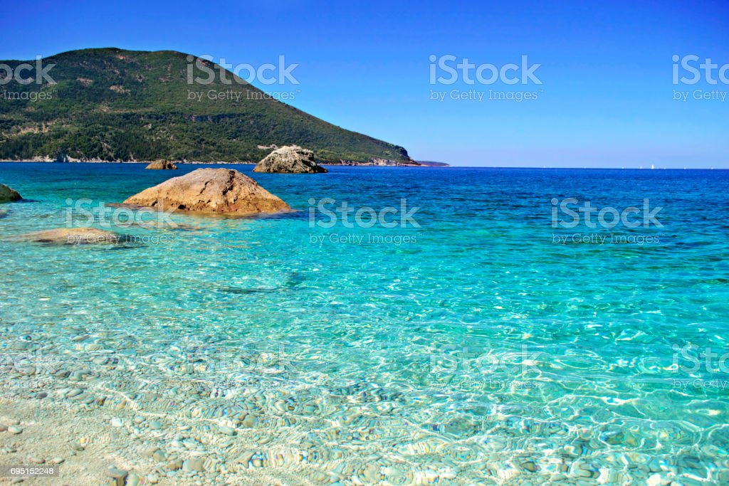 Afales Bay Ithaca island Greece stock photo