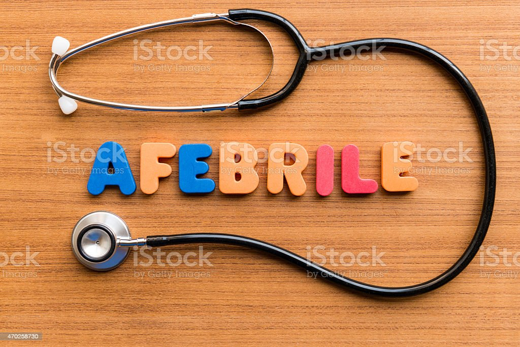 afebrile afebrile colorful word on the wooden background 2015 Stock Photo