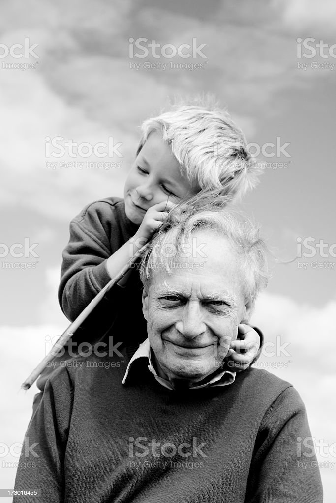 affection for grandpa royalty-free stock photo