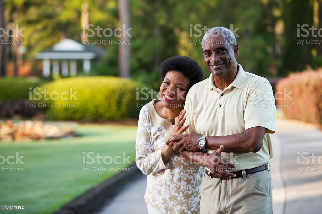 Affectionate African American couple stock photo