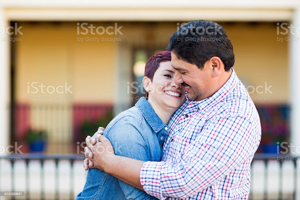 Affectionate and loving couple stock photo