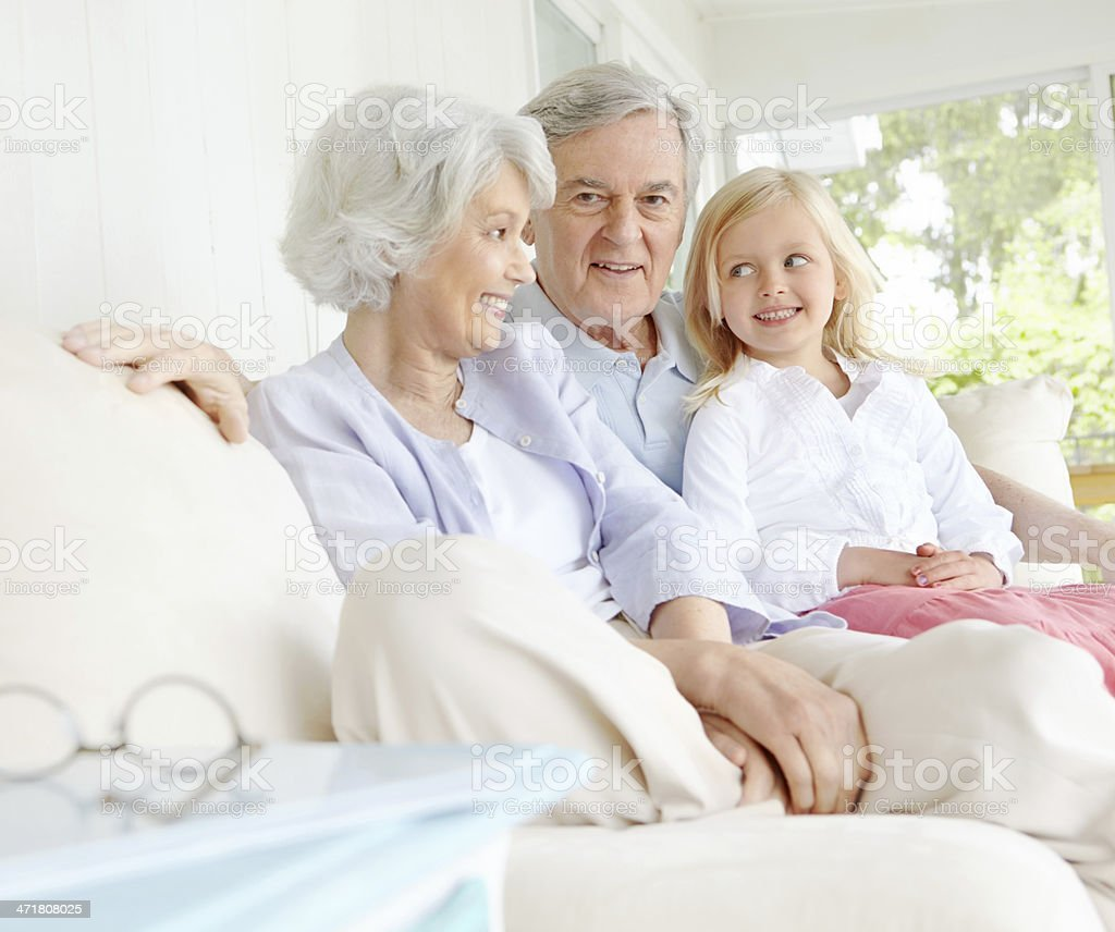 Affectionate and loving grandparents royalty-free stock photo