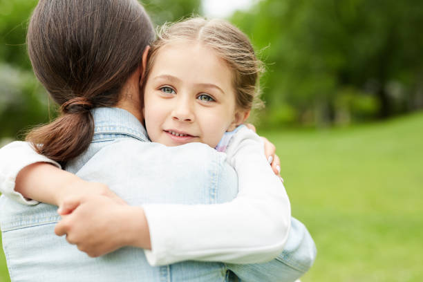 Affectionate child stock photo