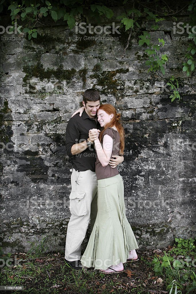 affectionate couple portraits royalty-free stock photo