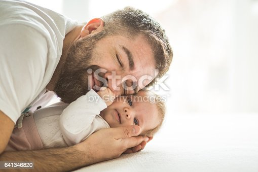 istock Affectionate father and baby girl 641346820