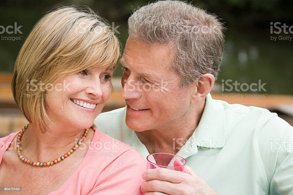 Affectionate mature couple royalty-free stock photo