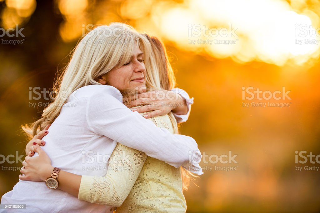 Affectionate moment stock photo