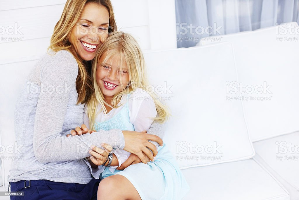 Affectionate mother and daughter royalty-free stock photo