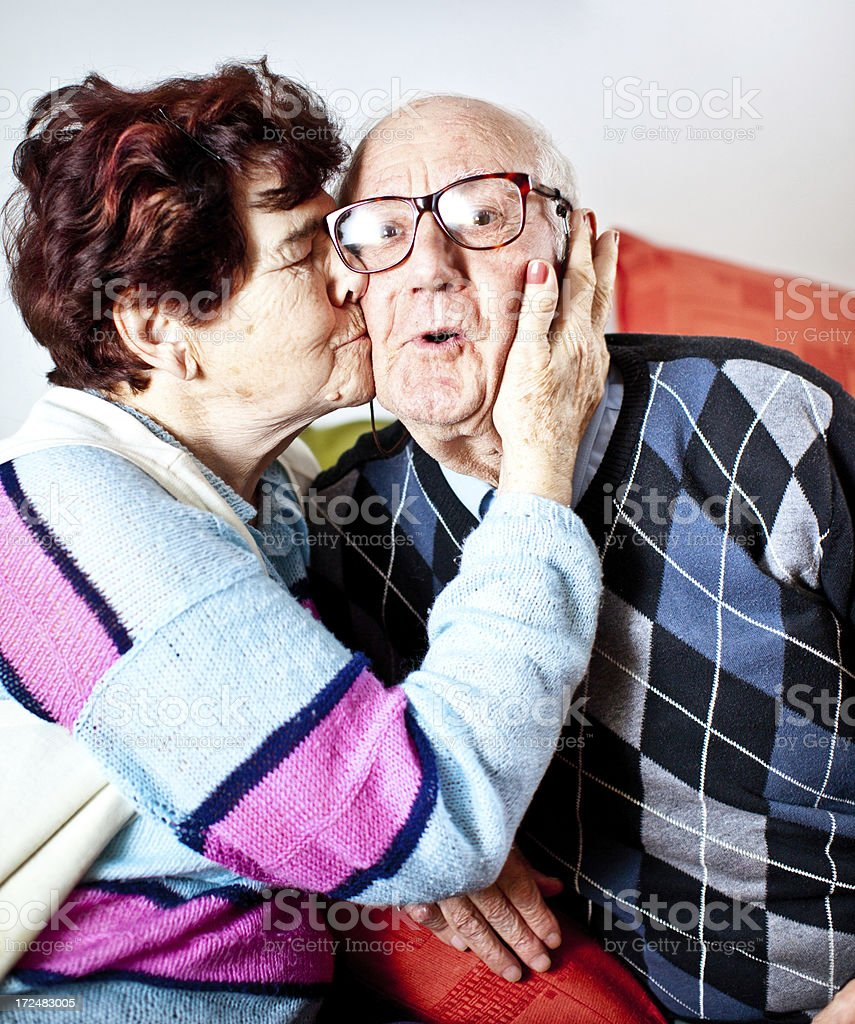 Affectionate senior couple. royalty-free stock photo