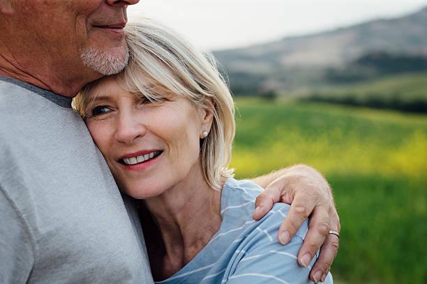 Zärtlich Alter Paar – Foto