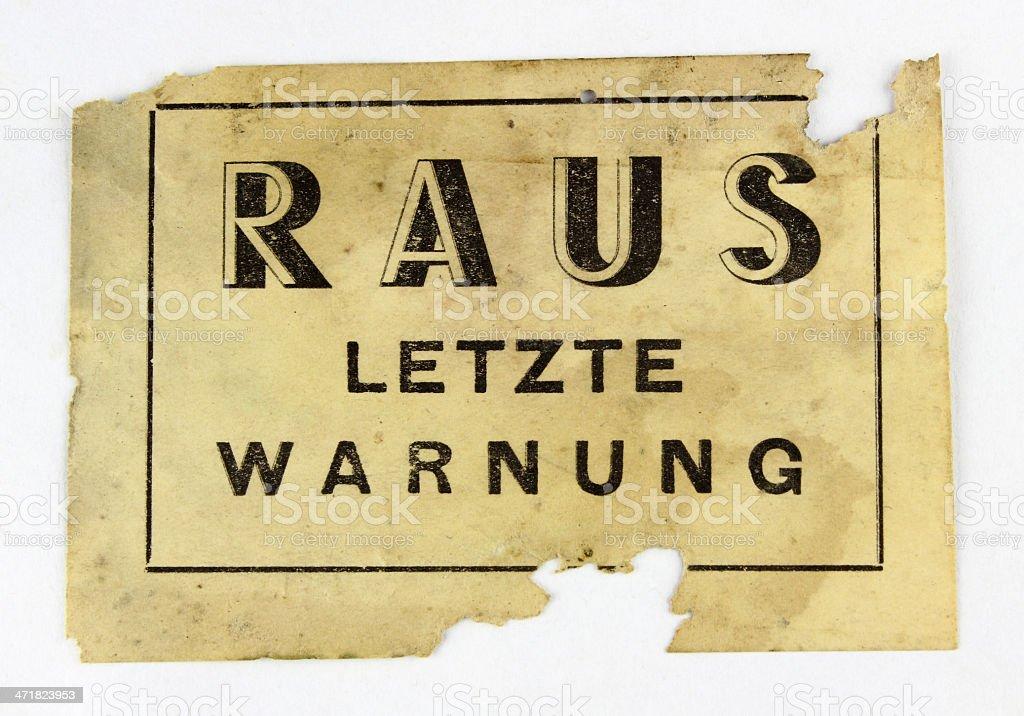 Affichette clandestine de la résistance française ww2 royalty-free stock photo