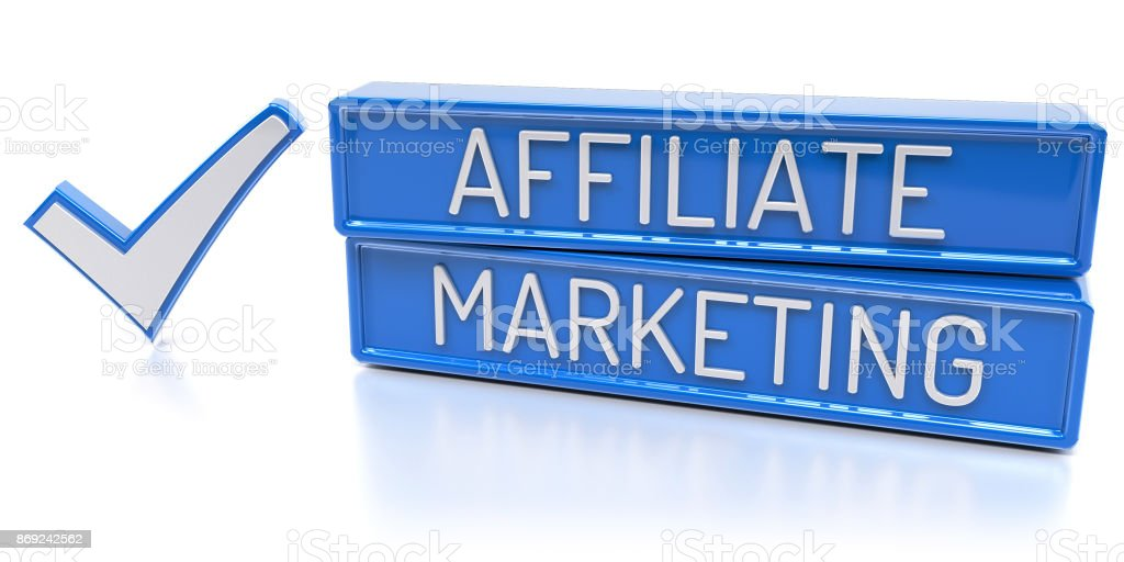 Affiliate Marketing - 3D Render stock photo