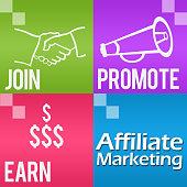 istock Affiliate Marketing Four Colorful Blocks Square 489835538