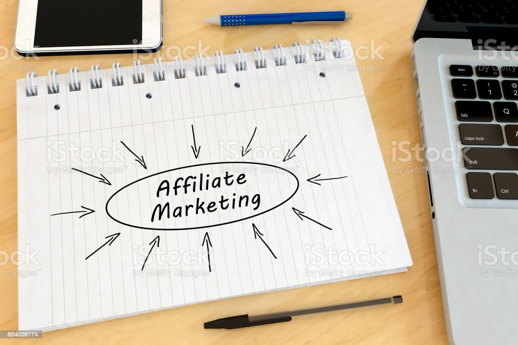Affiliate Marketing text concept stock photo