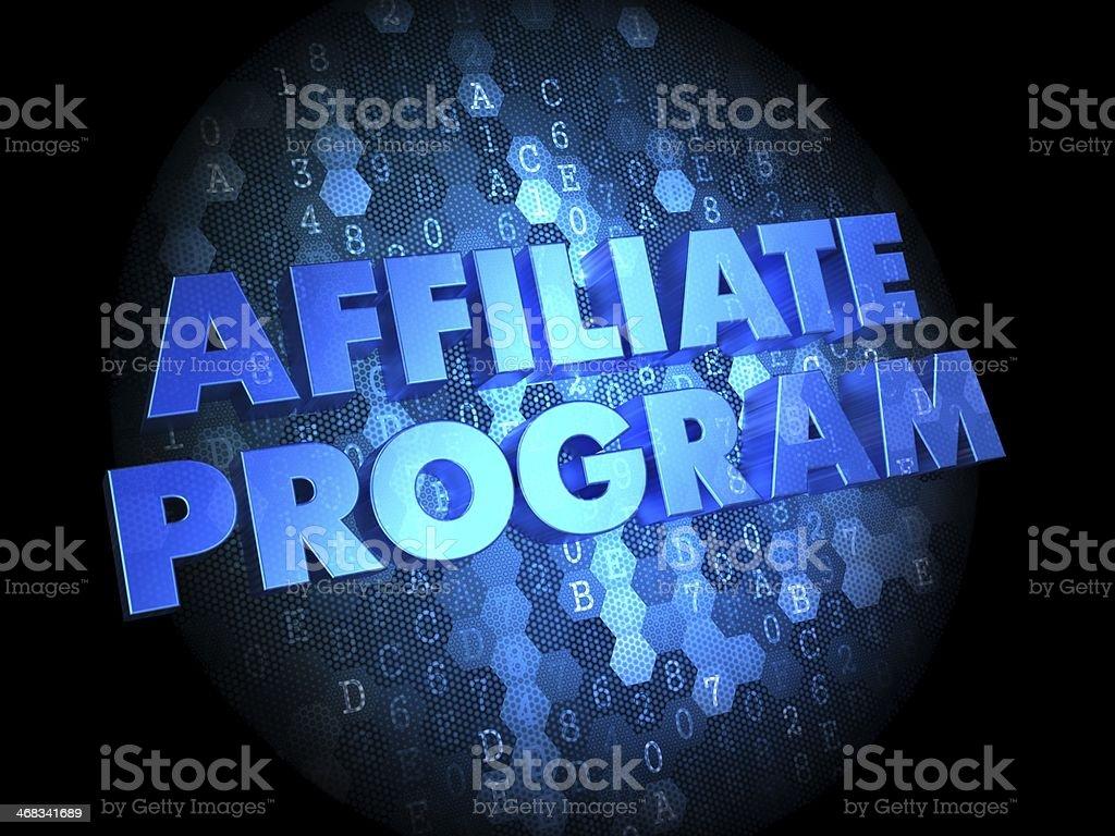 Affiliate Program on Digital Background. stock photo