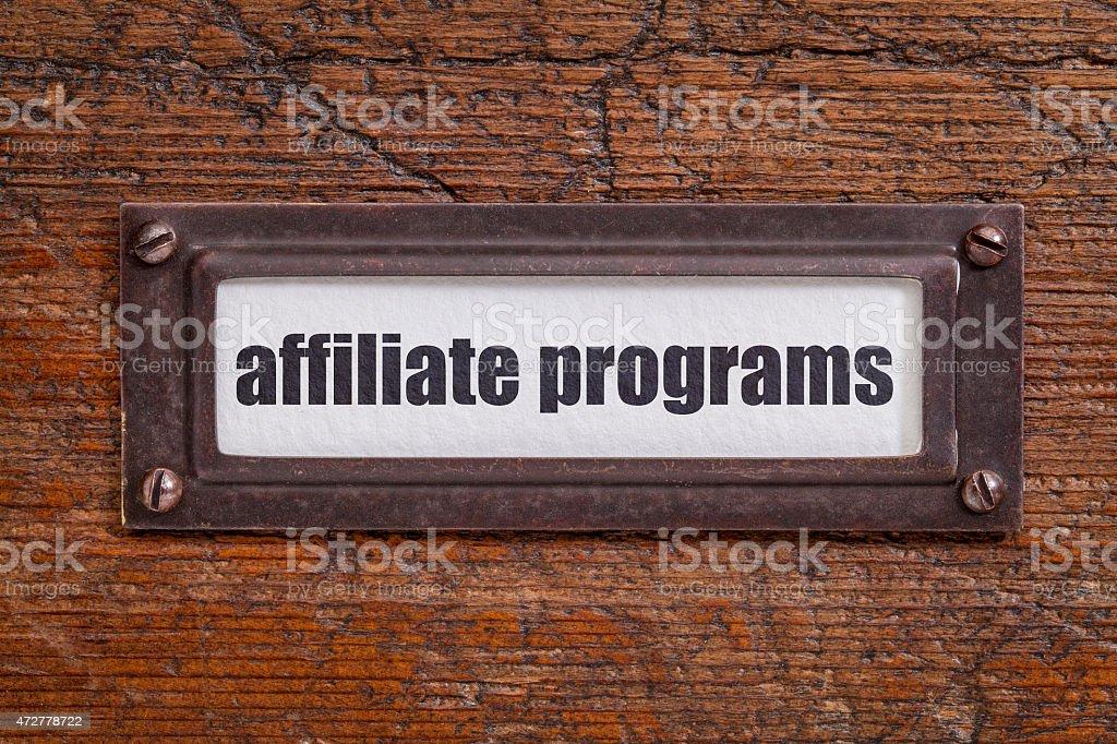 affiliate programs label stock photo