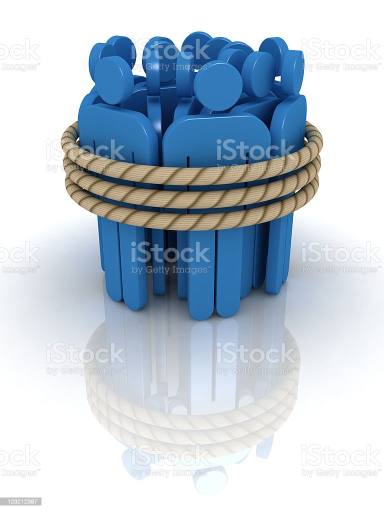 Affiliated team. royalty-free stock photo