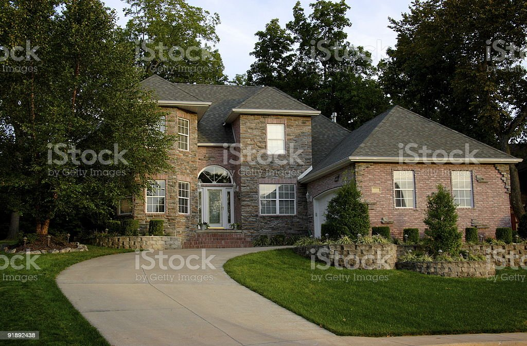 affluent residence home stock photo
