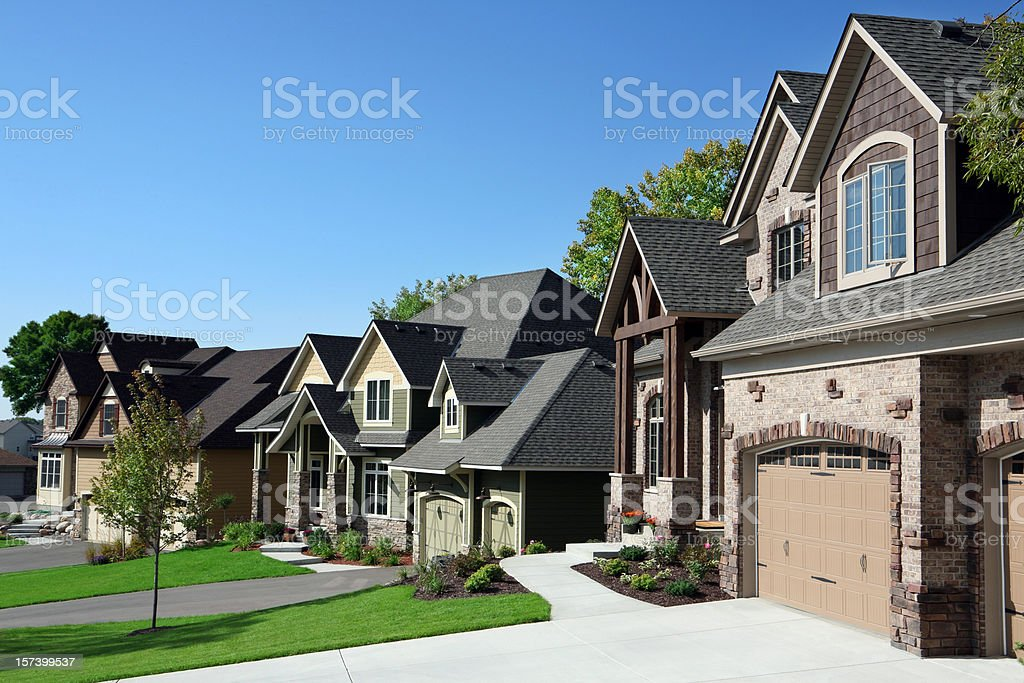 Affluent Suburban Street stock photo