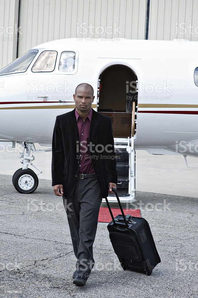 Affluent Travel - African American Businessman royalty-free stock photo