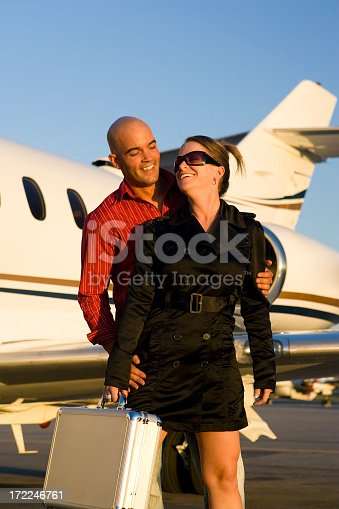 istock Affluent Travel-Happy Couple at Airport 172246761