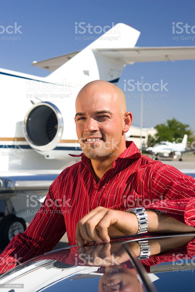 Affluent Travel-Man at Airport stock photo