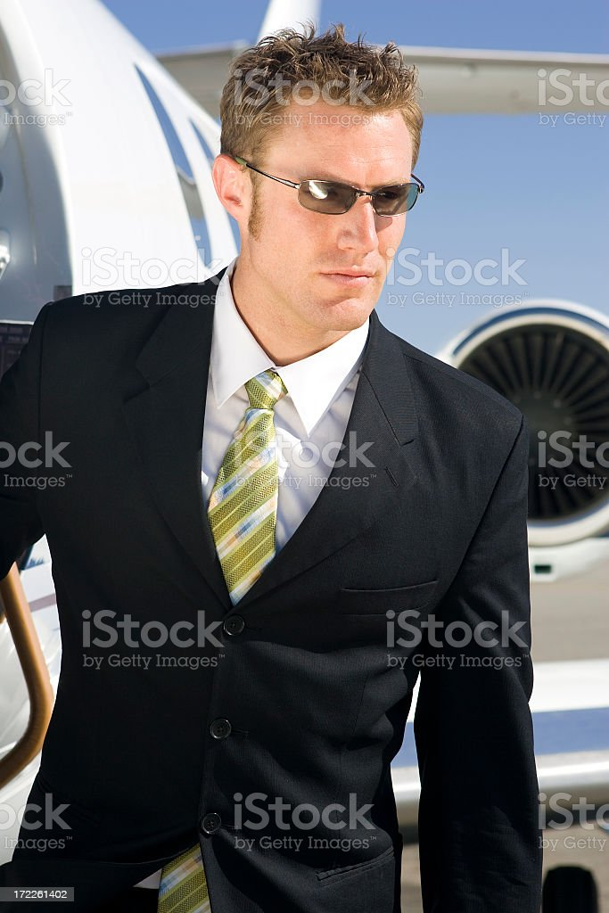 Affluent Travel-Young Executive stock photo