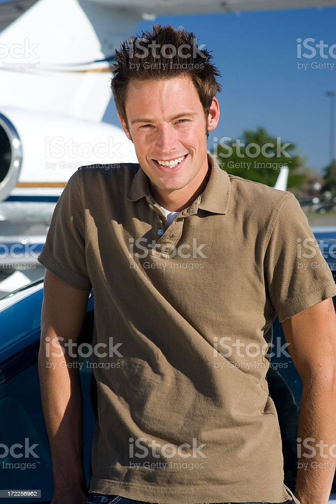 Affluent Travel-Young Male Portrait stock photo