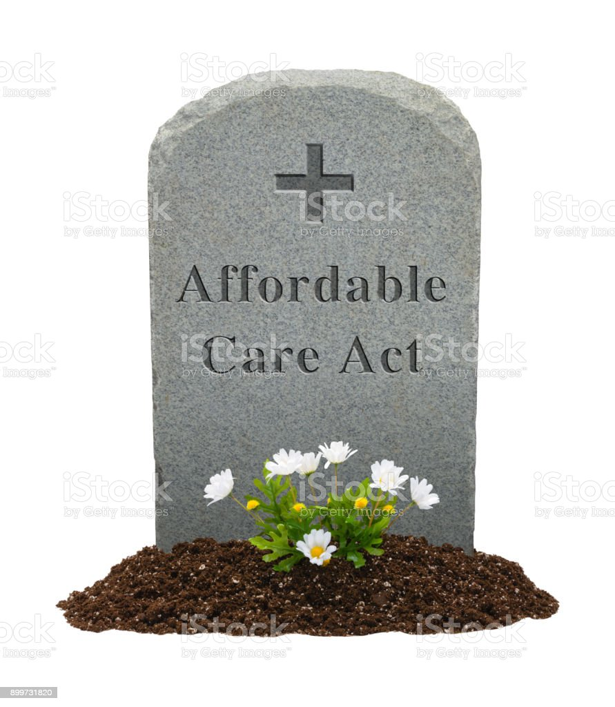 Affordable Care Act Headstone stock photo