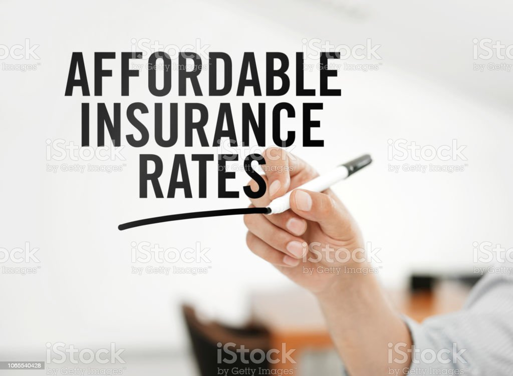 Affordable insurance rates stock photo