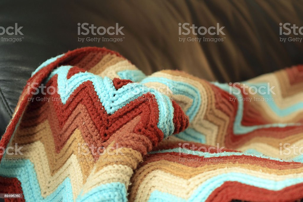 Afghan Blanket royalty-free stock photo