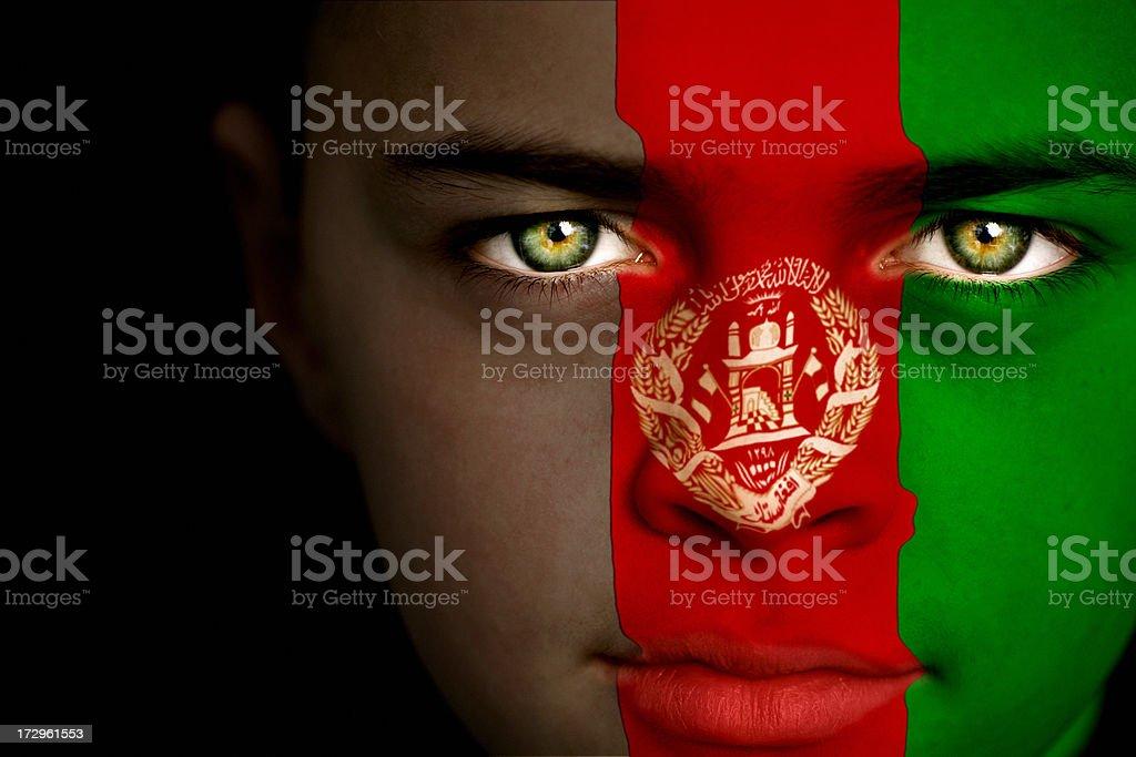 Afghan boy stock photo