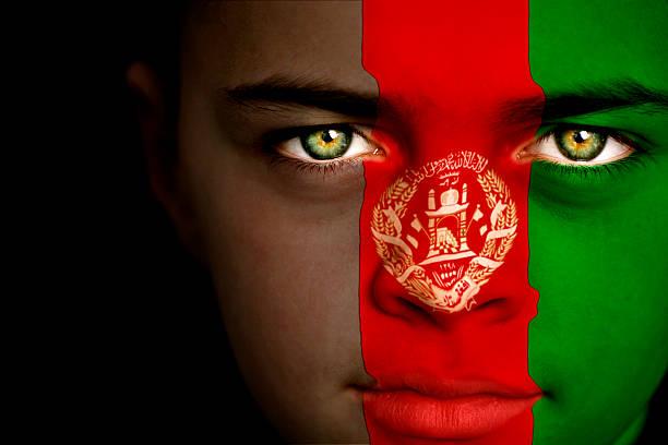 Menino afegão - foto de acervo