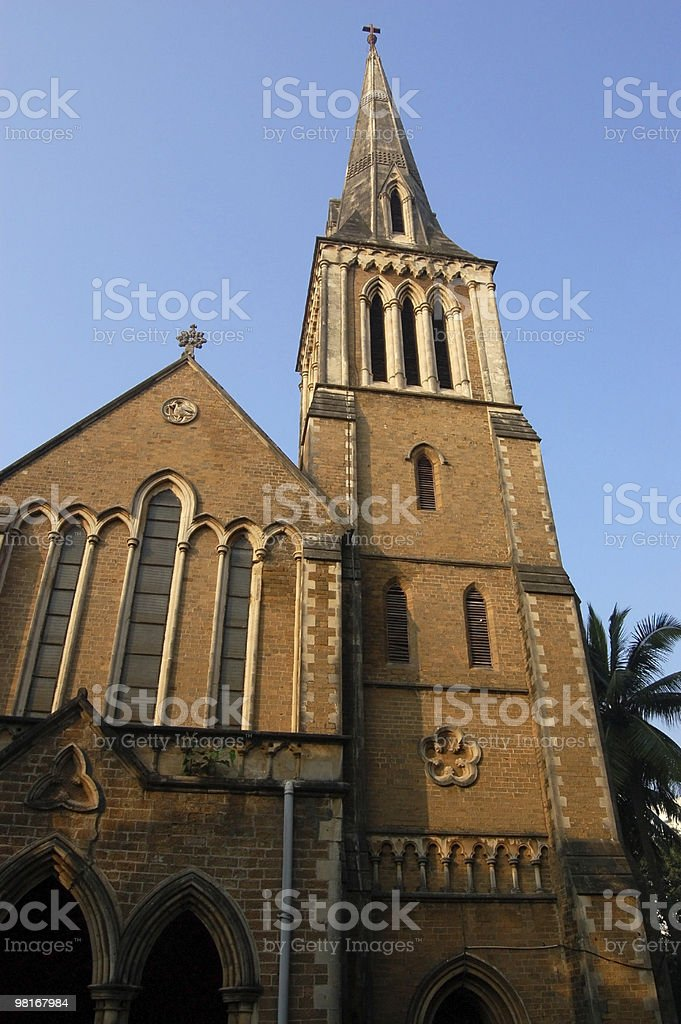 Afghan church exterior, Mumbai royalty-free stock photo